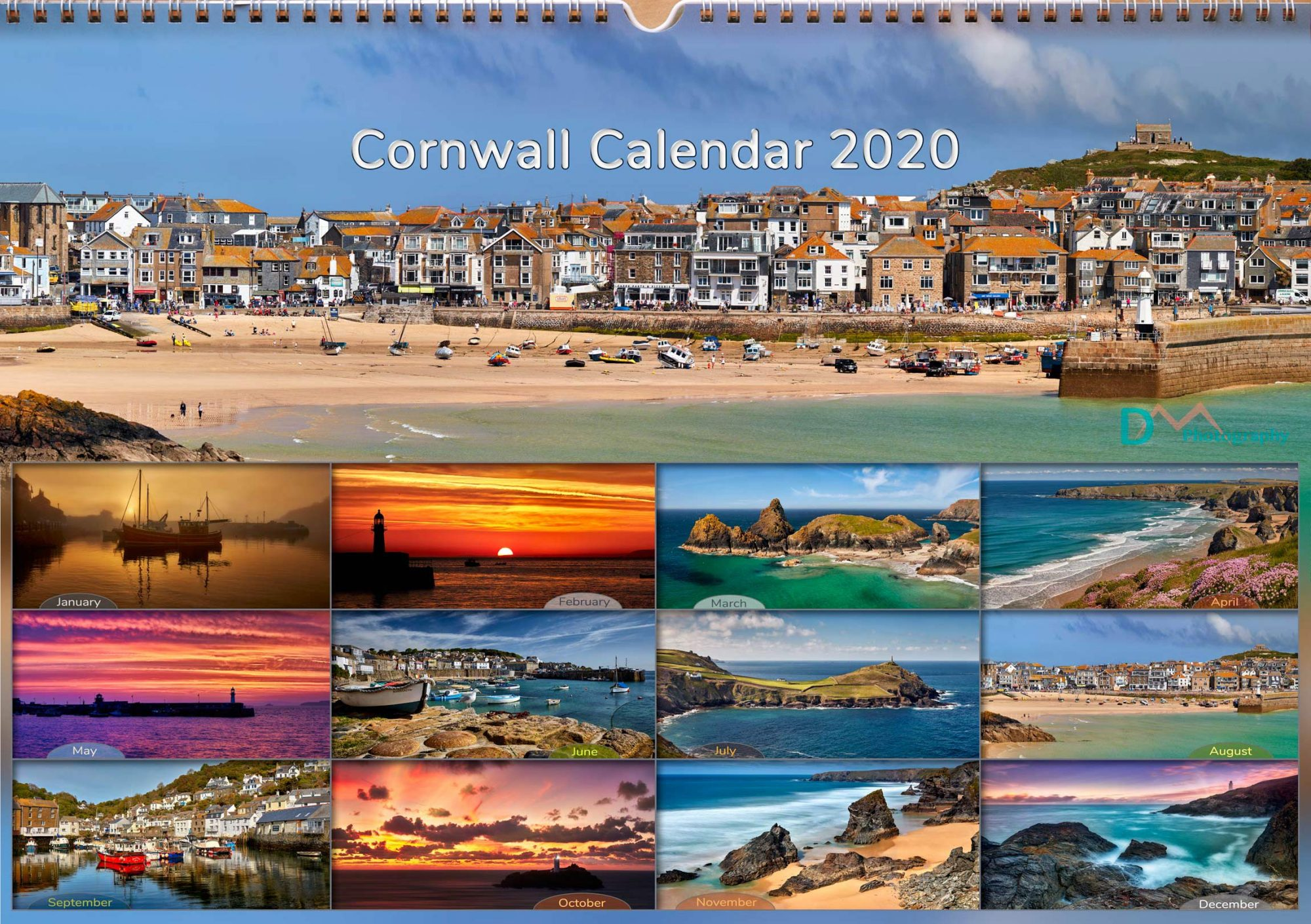 Cornwall Calendar Front Cover
