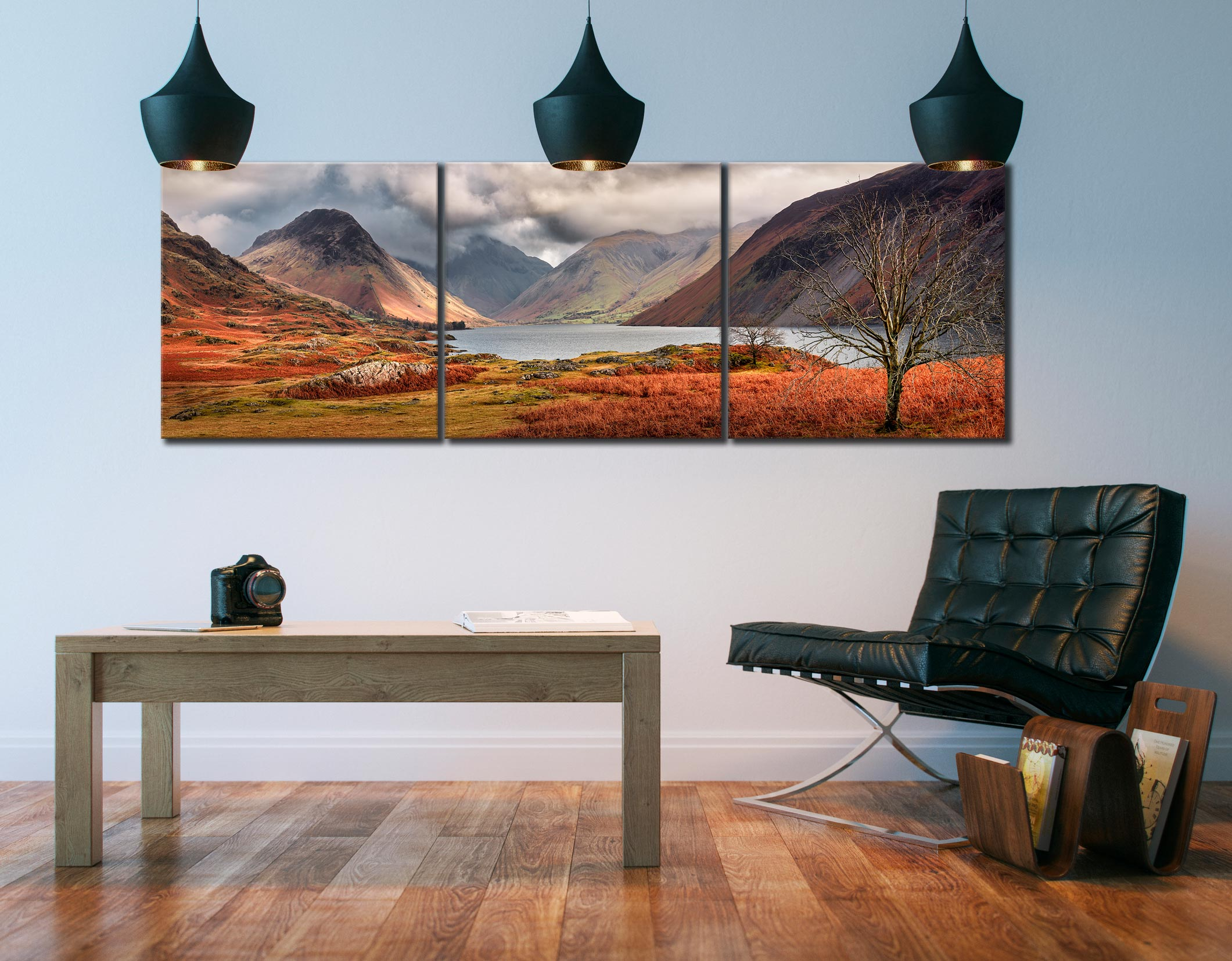 Autumn Ends at Wast Water - 3 Panel Canvas on Wall