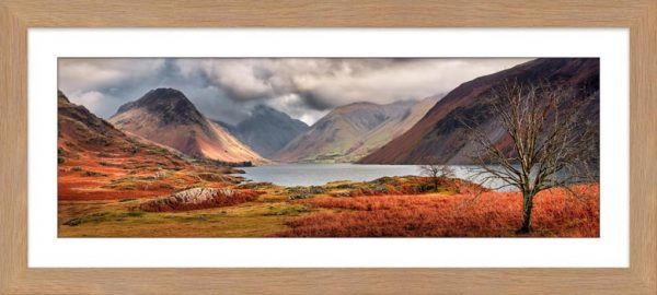 Autumn Ends at Wast Water - Framed Print with Mount