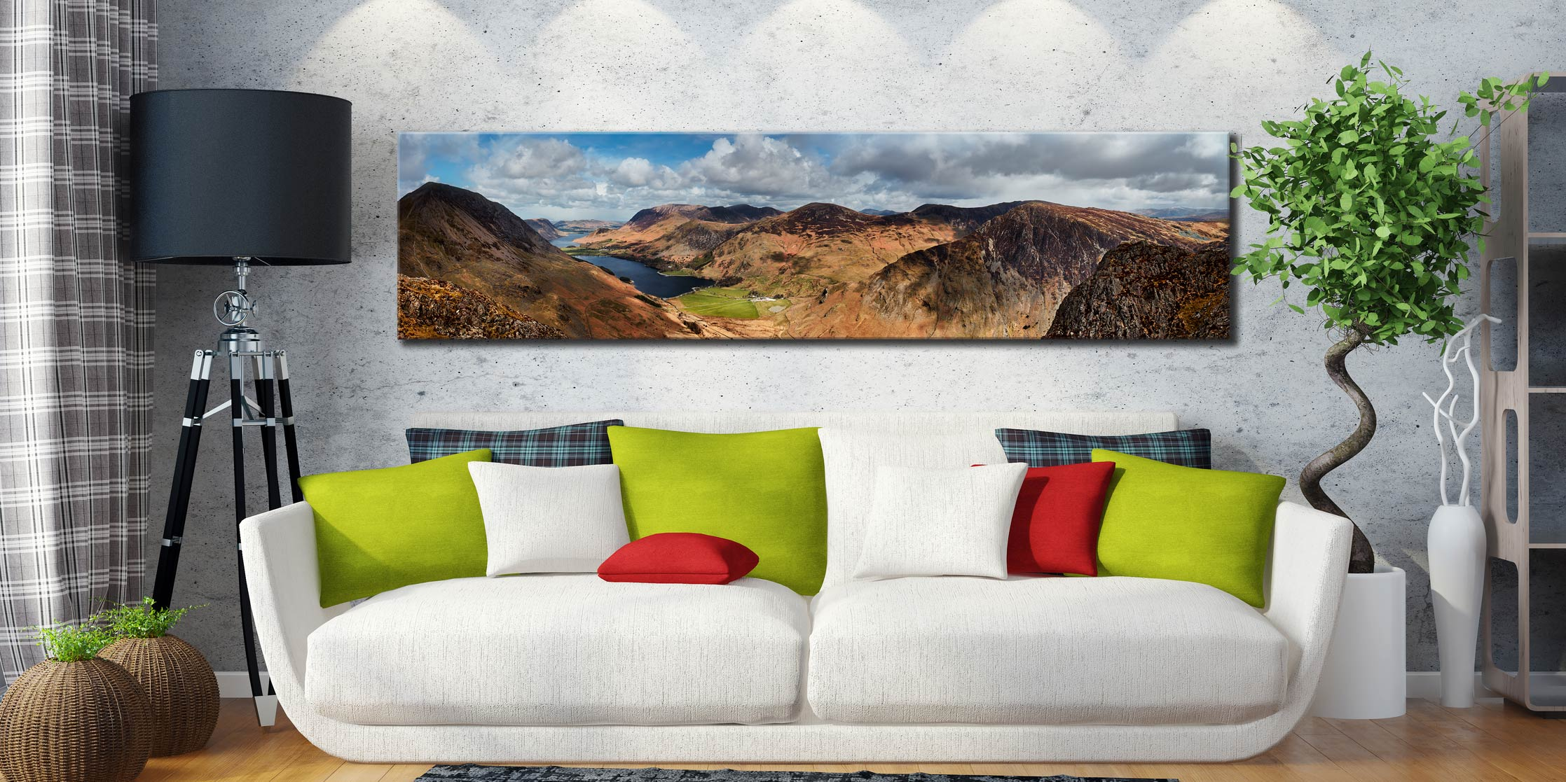 Fleethwith to High Crag - Lake District Canvas on Wall