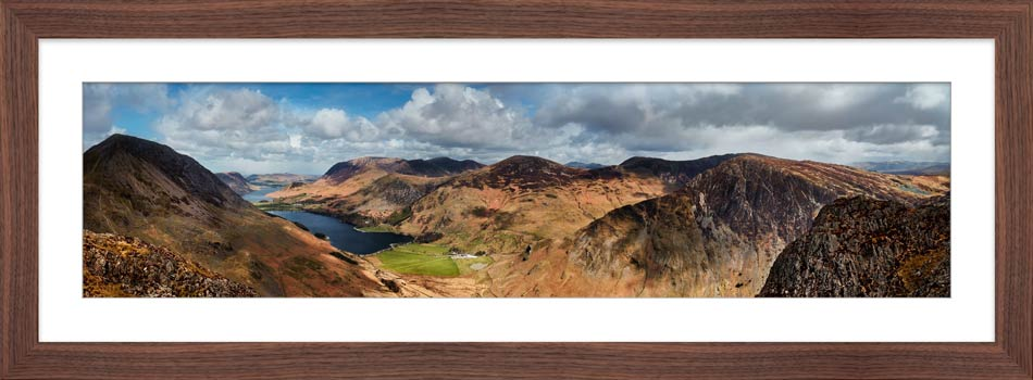 Fleethwith to High Crag - Framed Print with Mount