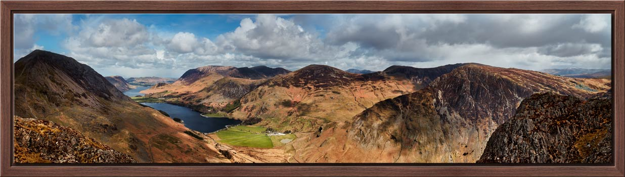 Fleethwith to High Crag - Black oak floater frame with acrylic glazing