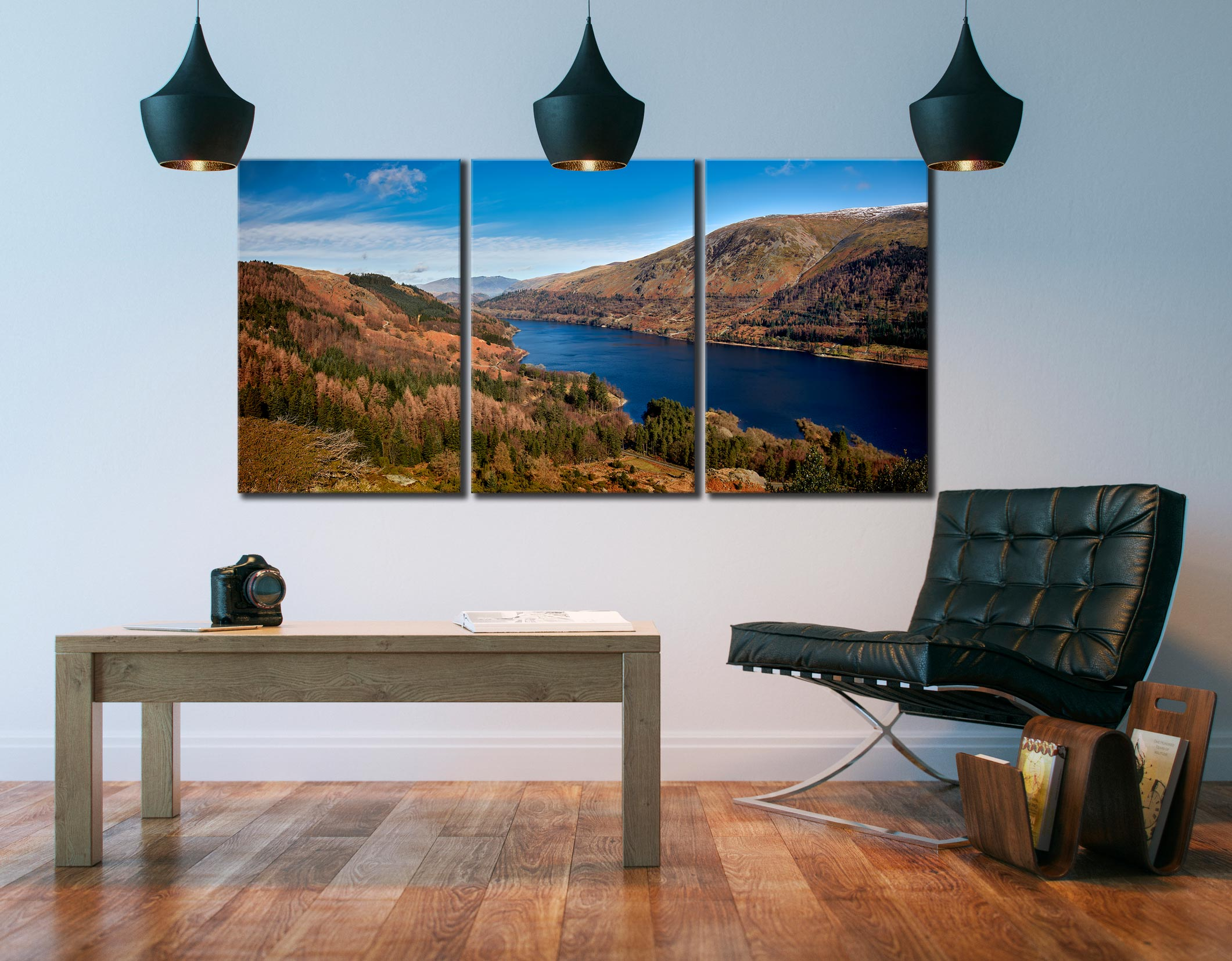 Autumn at Thirlmere - 3 Panel Canvas on Wall