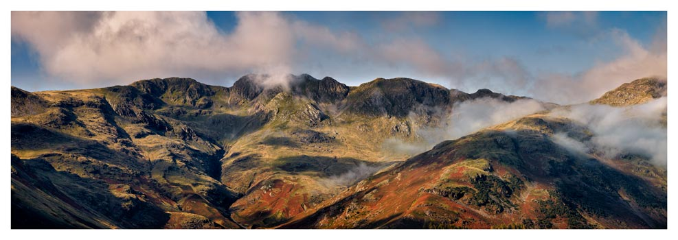 Crinkle Crags from Great Langdale - Prints of Lake District