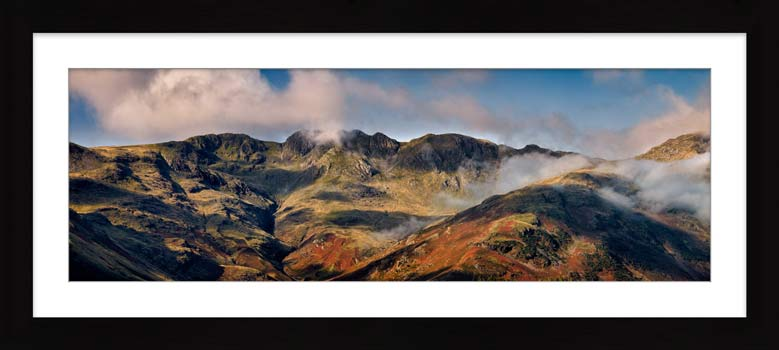 Crinkle Crags from Great Langdale - Framed Print with Mount