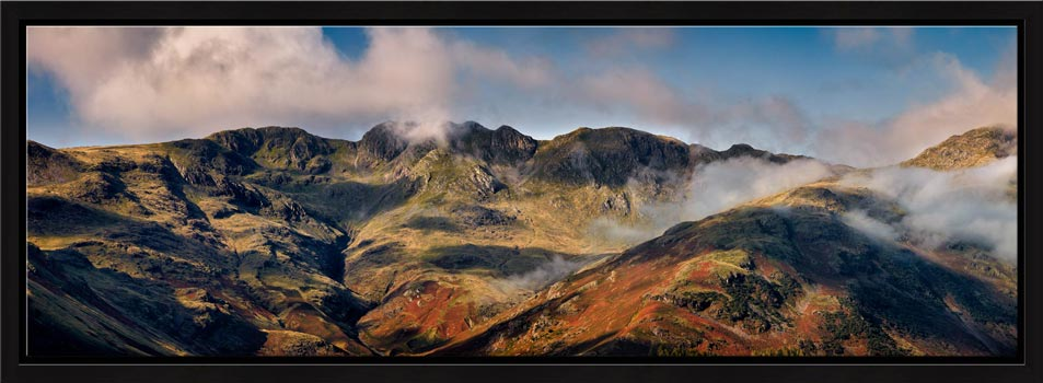 Crinkle Crags from Great Langdale - Modern Print