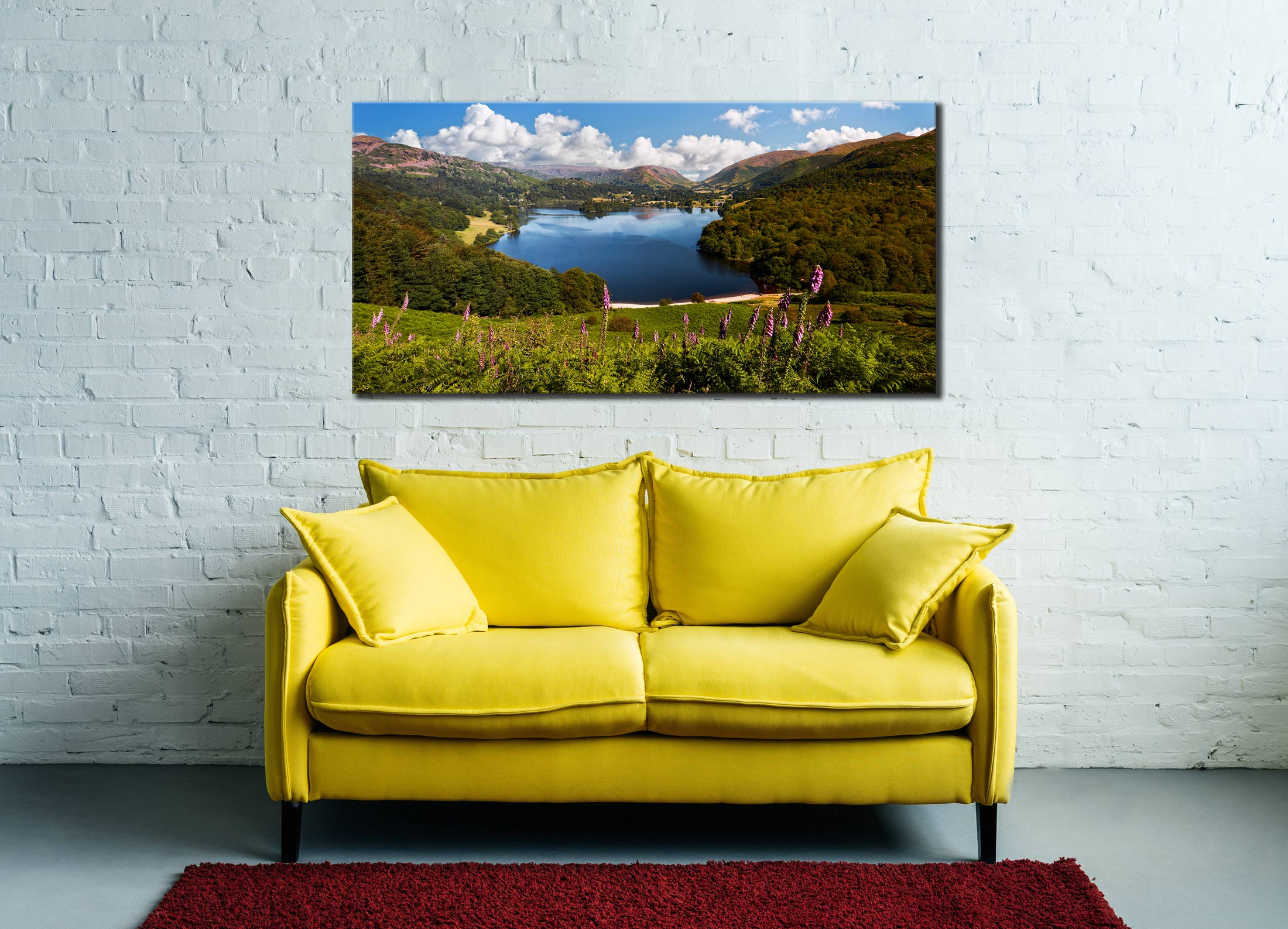 Summer at Grasmere - Canvas Print on Wall