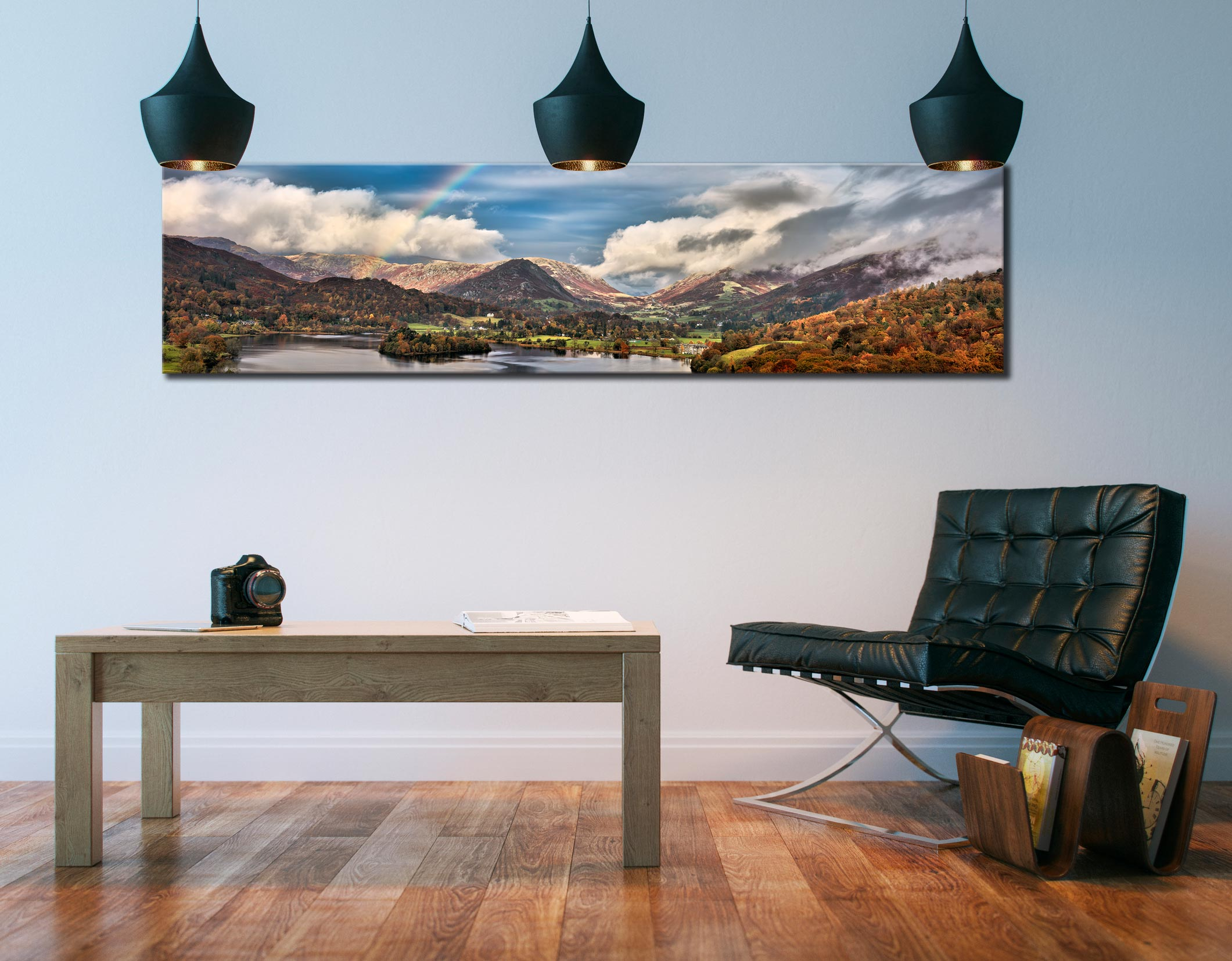 Grasmere Rainbow - Lake District Canvas on Wall