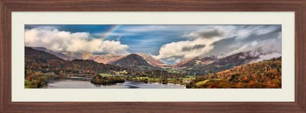 Grasmere Rainbow - Framed Print with Mount