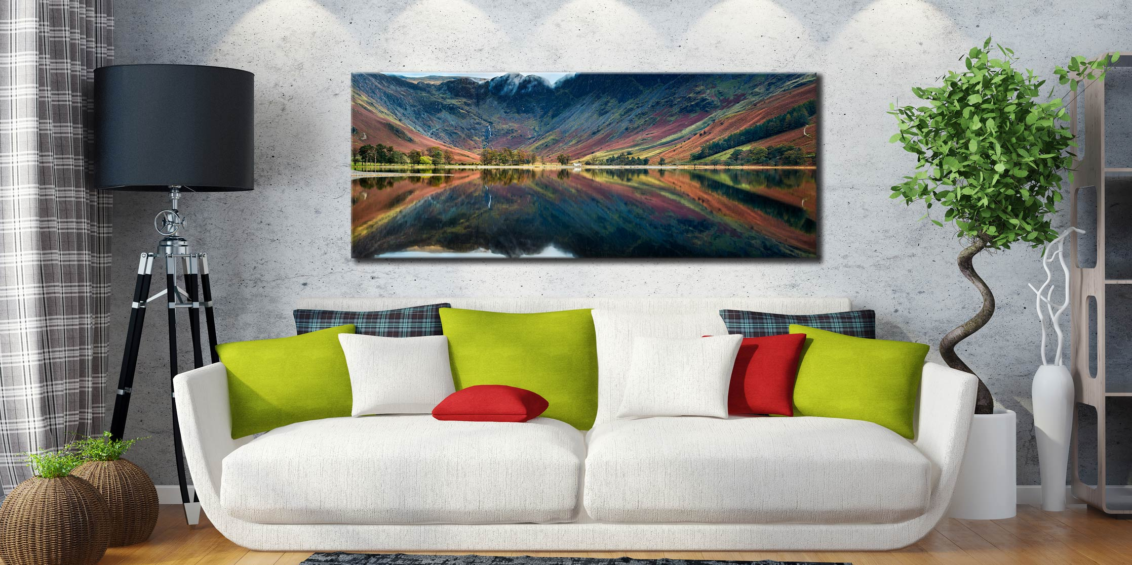 Buttermere Reflections - Canvas Print on Wall