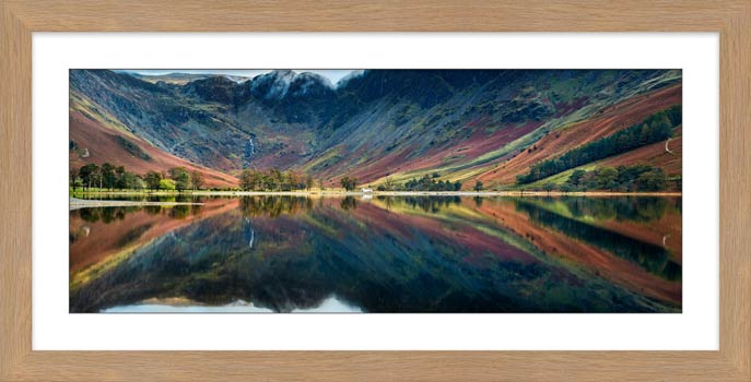Buttermere Reflections - Framed Print with Mount