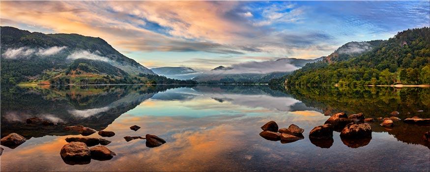 Ullswater Morning Mists - Canvas Print