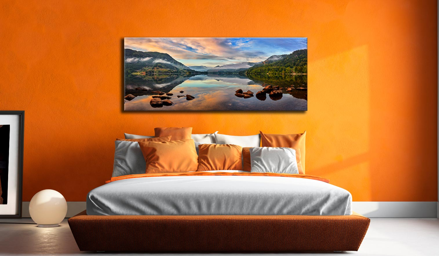Ullswater Morning Mists - Canvas Print on Wall