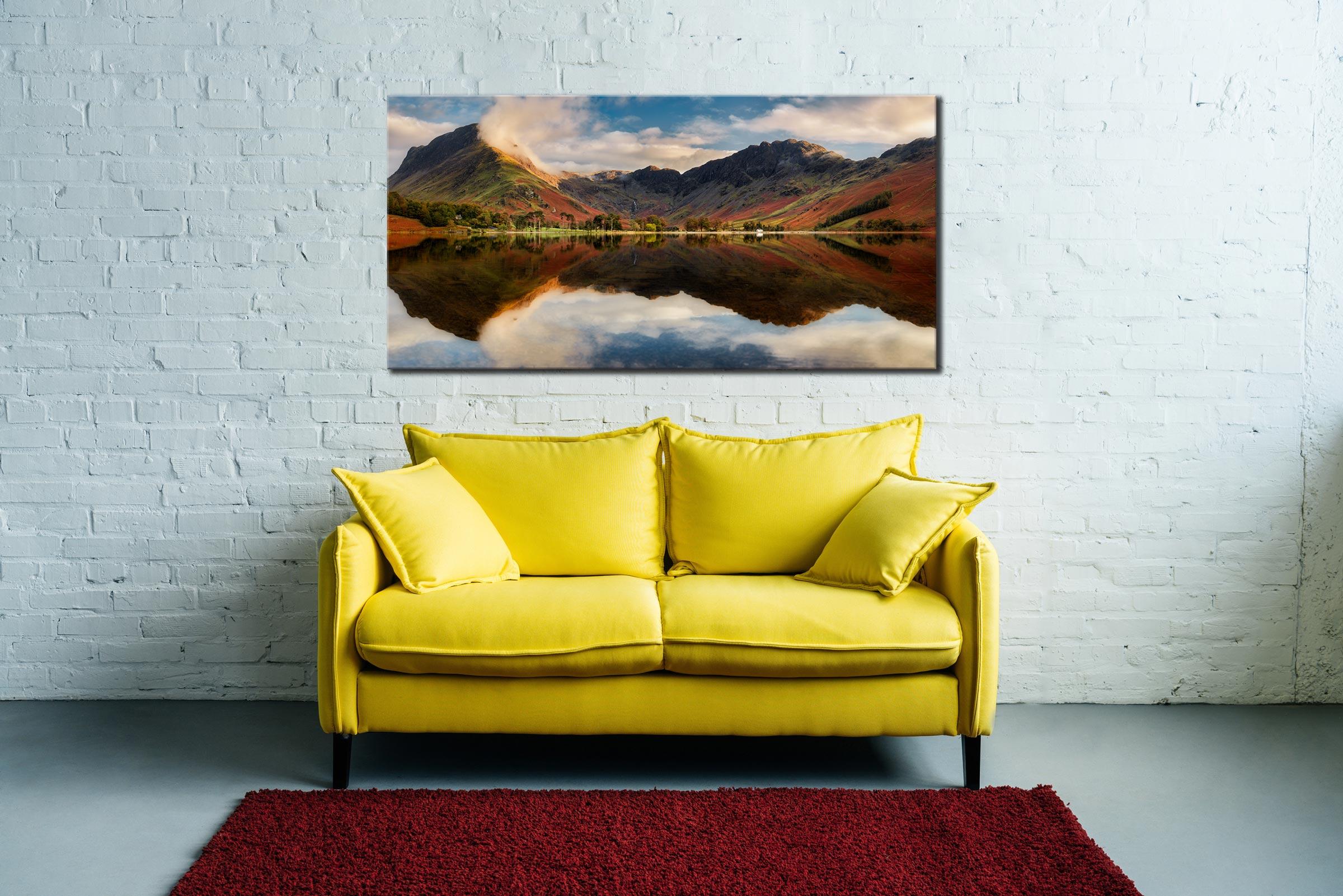 Buttermere Evening Light - Canvas Print on Wall