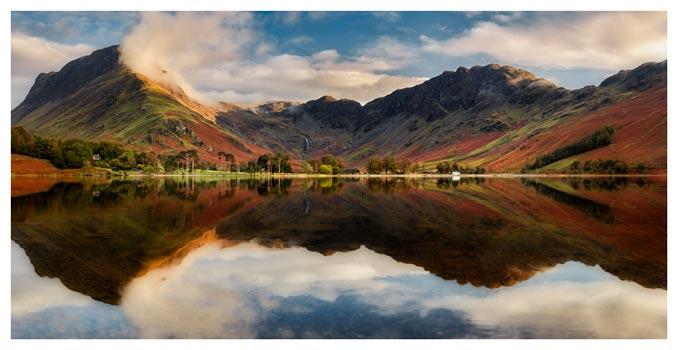 Buttermere Evening Light - Lake District Print