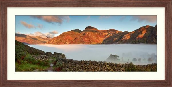 Great Langdale Cloud Inversion - Framed Print with Mount