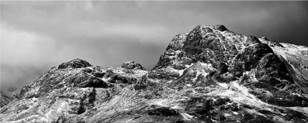 Snow on the Langdale Pikes - Canvas Print