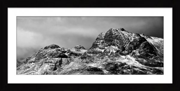 Snow on the Langdale Pikes - Framed Print with Mount