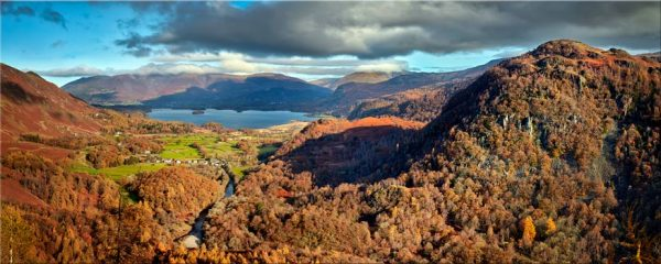 Derwent Water from Castle Crag - Canvas Print