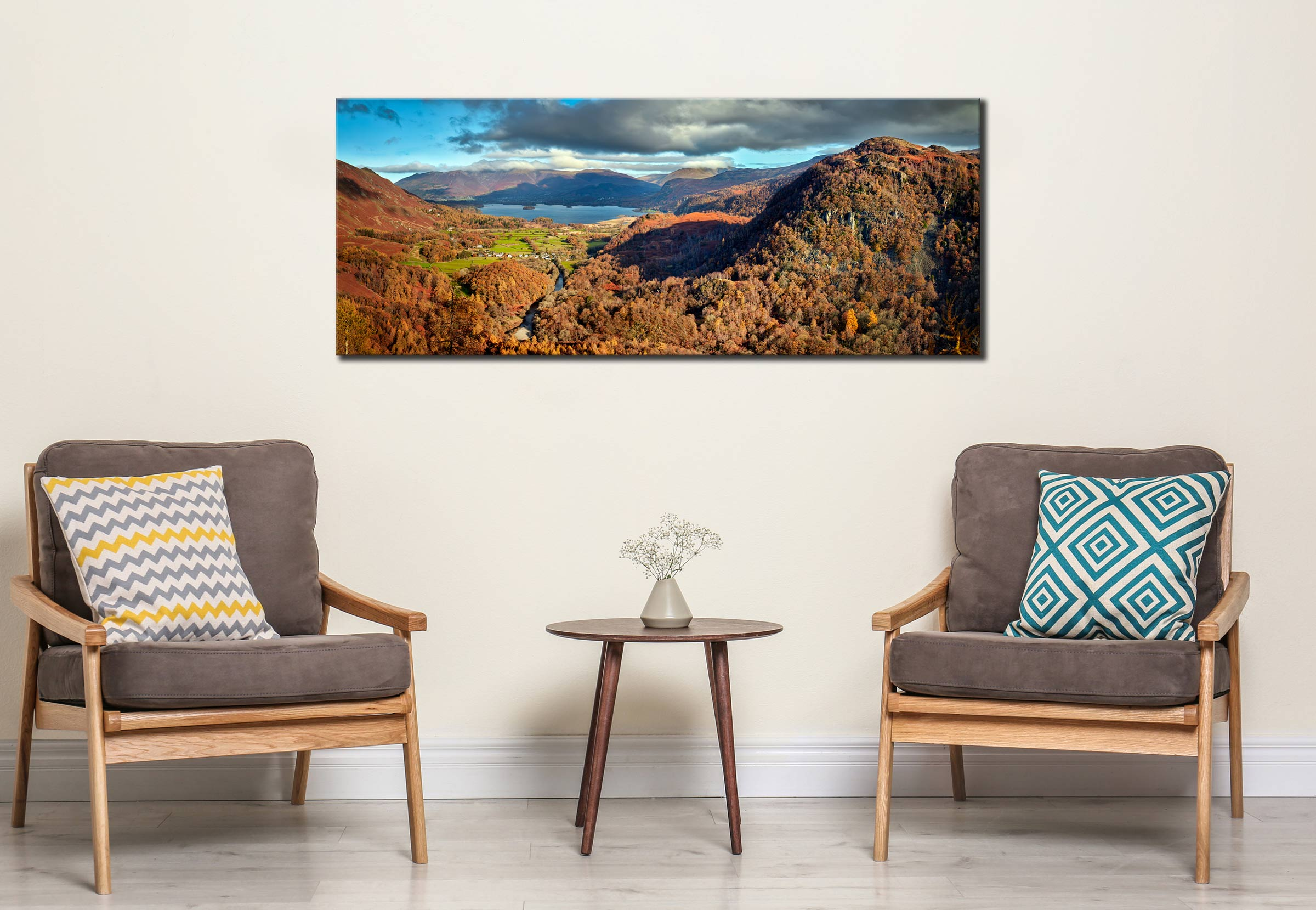 Derwent Water from Castle Crag - Canvas Print on Wall