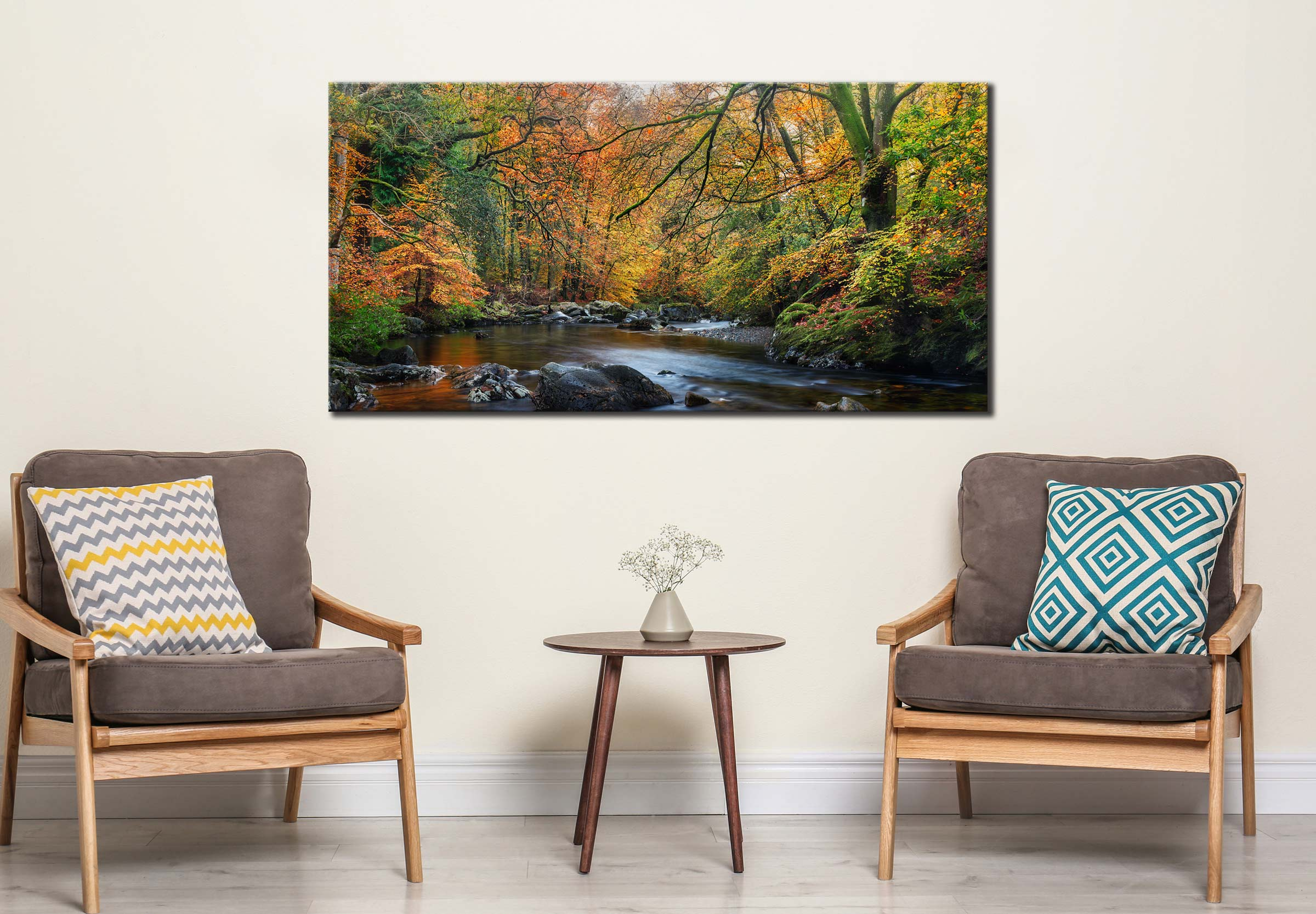 Golden Trees of Eskdale - Canvas Print on Wall