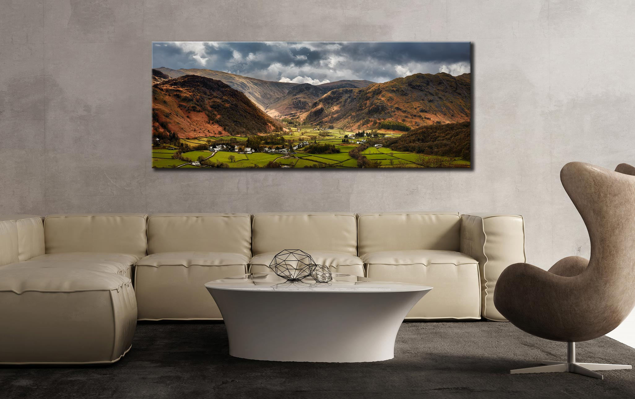Borrowdale Pastures - Canvas Print on Wall