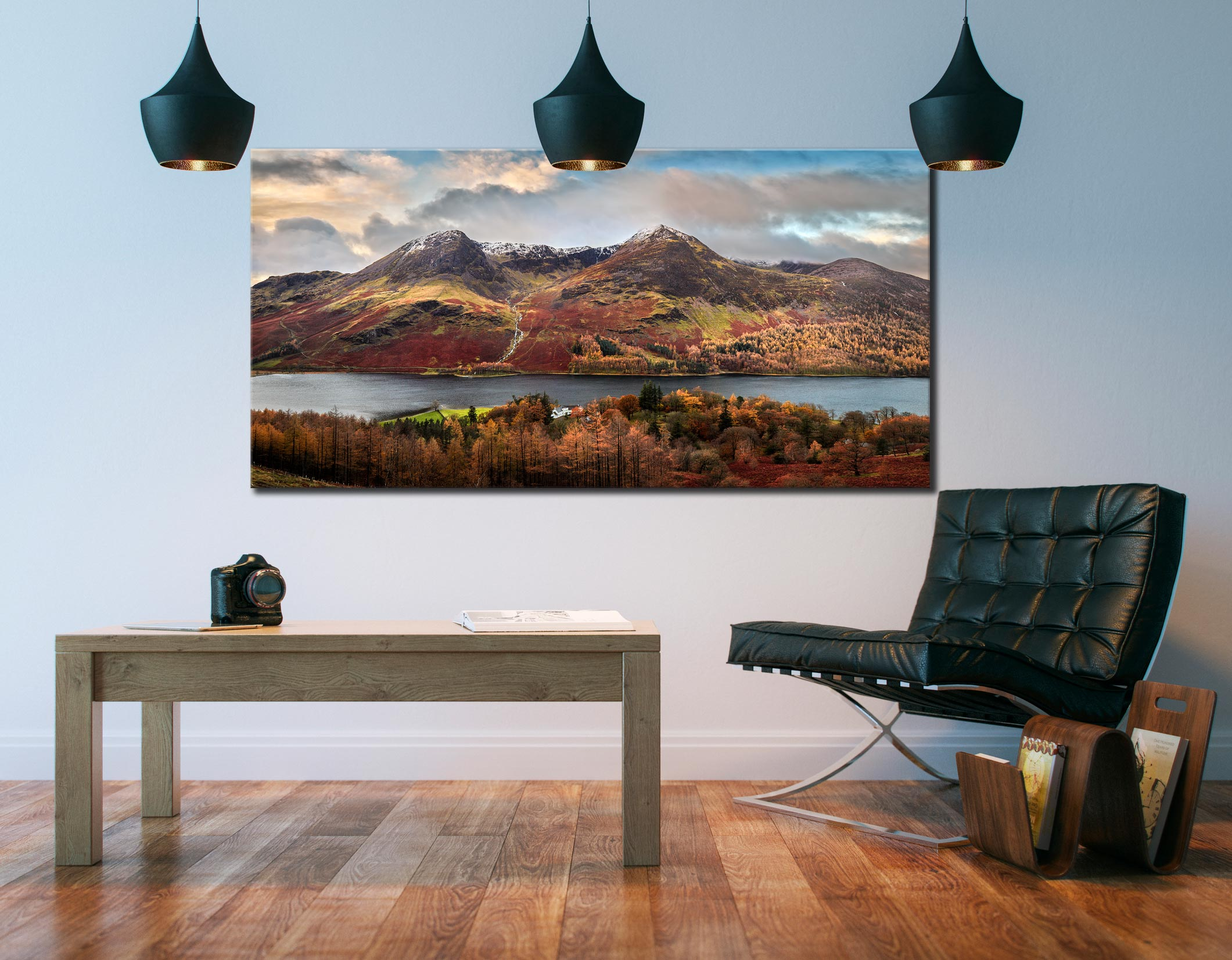 High Stile and High Crag - Canvas Print on Wall