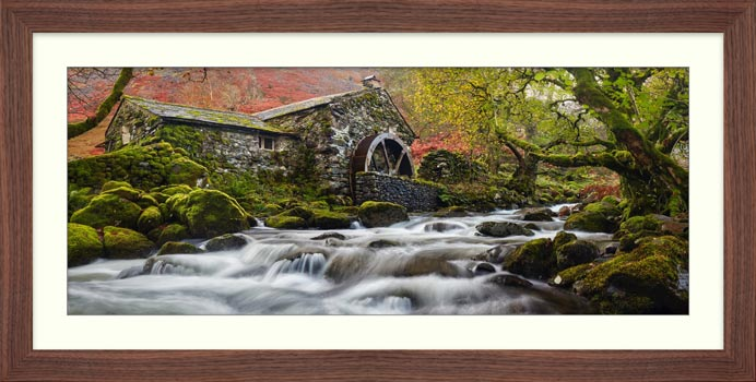 Borrowdale Mill Panorama - Framed Print with Mount