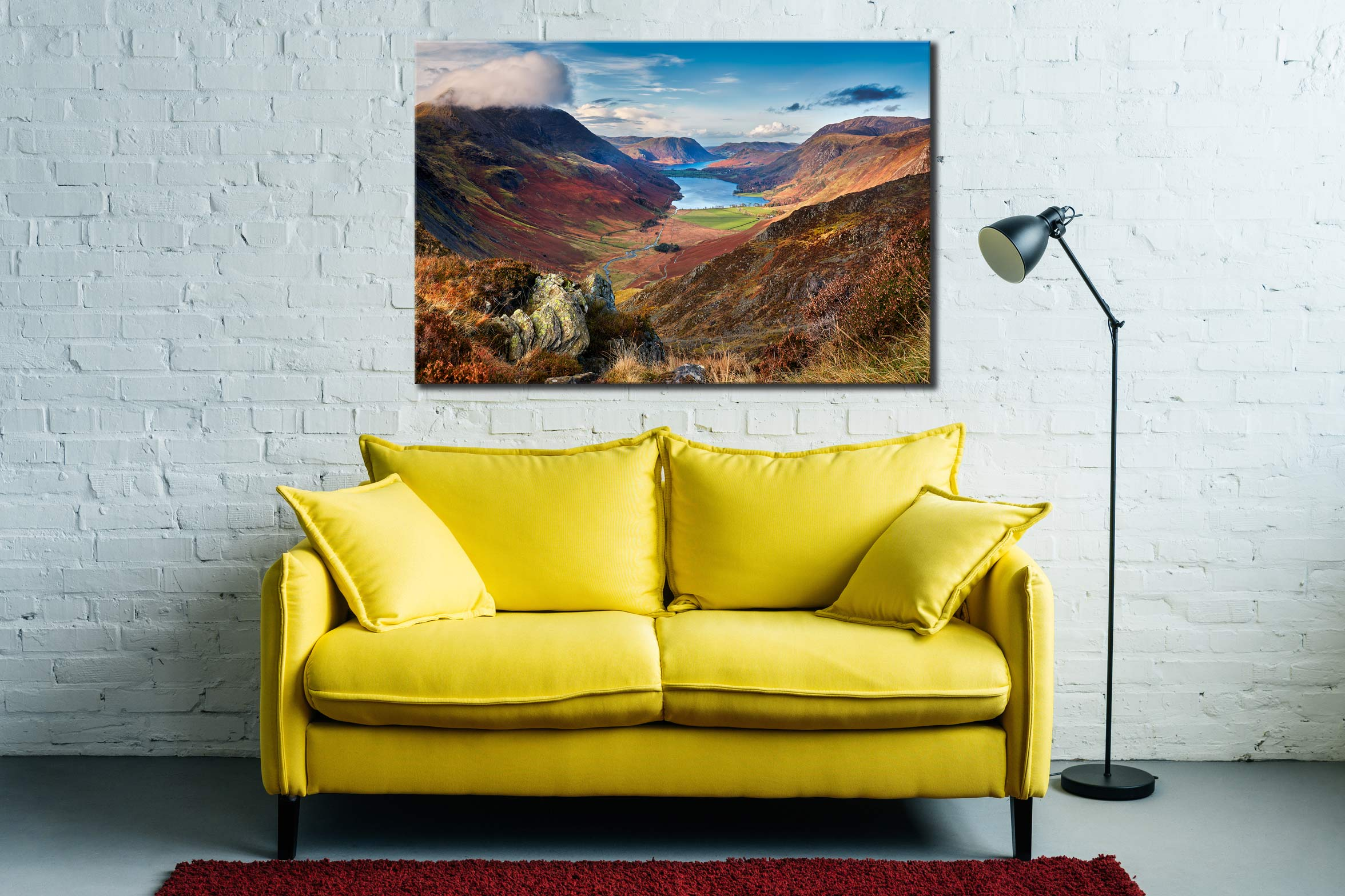 Buttermere Valley from Hay Stacks - Lake District Canvas on Wall