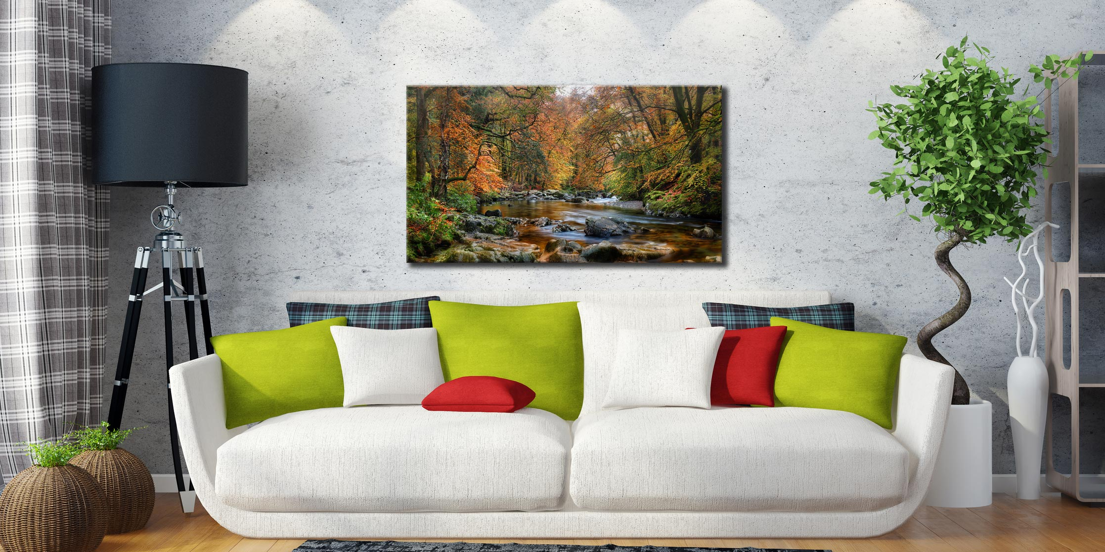 River Esk in Autumn - Lake District Canvas on Wall
