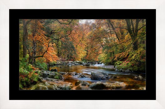 River Esk in Autumn - Framed Print with Mount