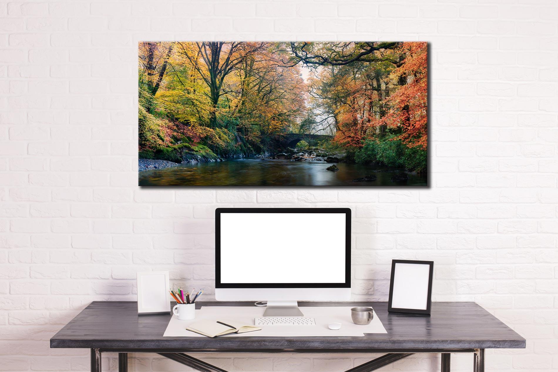 River Esk Bridge in Autumn - Canvas Print on Wall