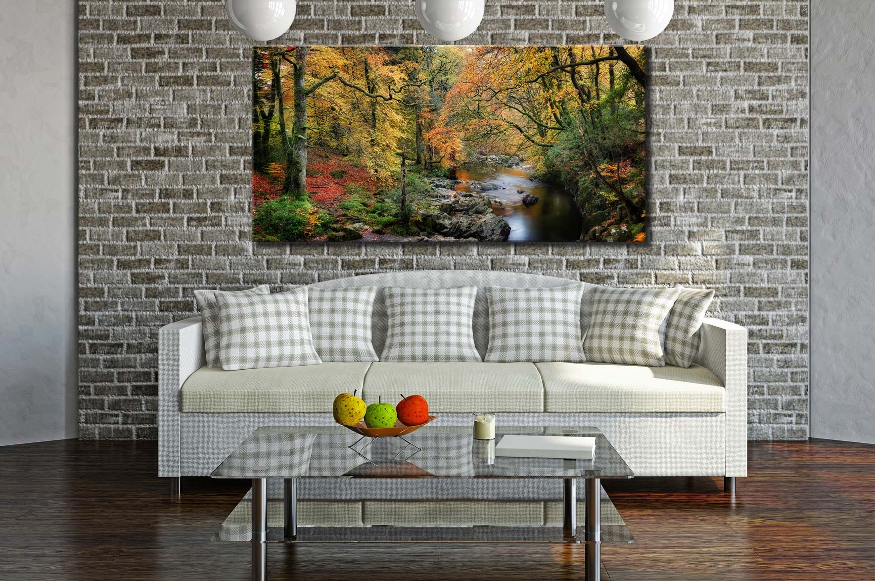 Autumn Woodlands of Eskdale - Canvas Print on Wall