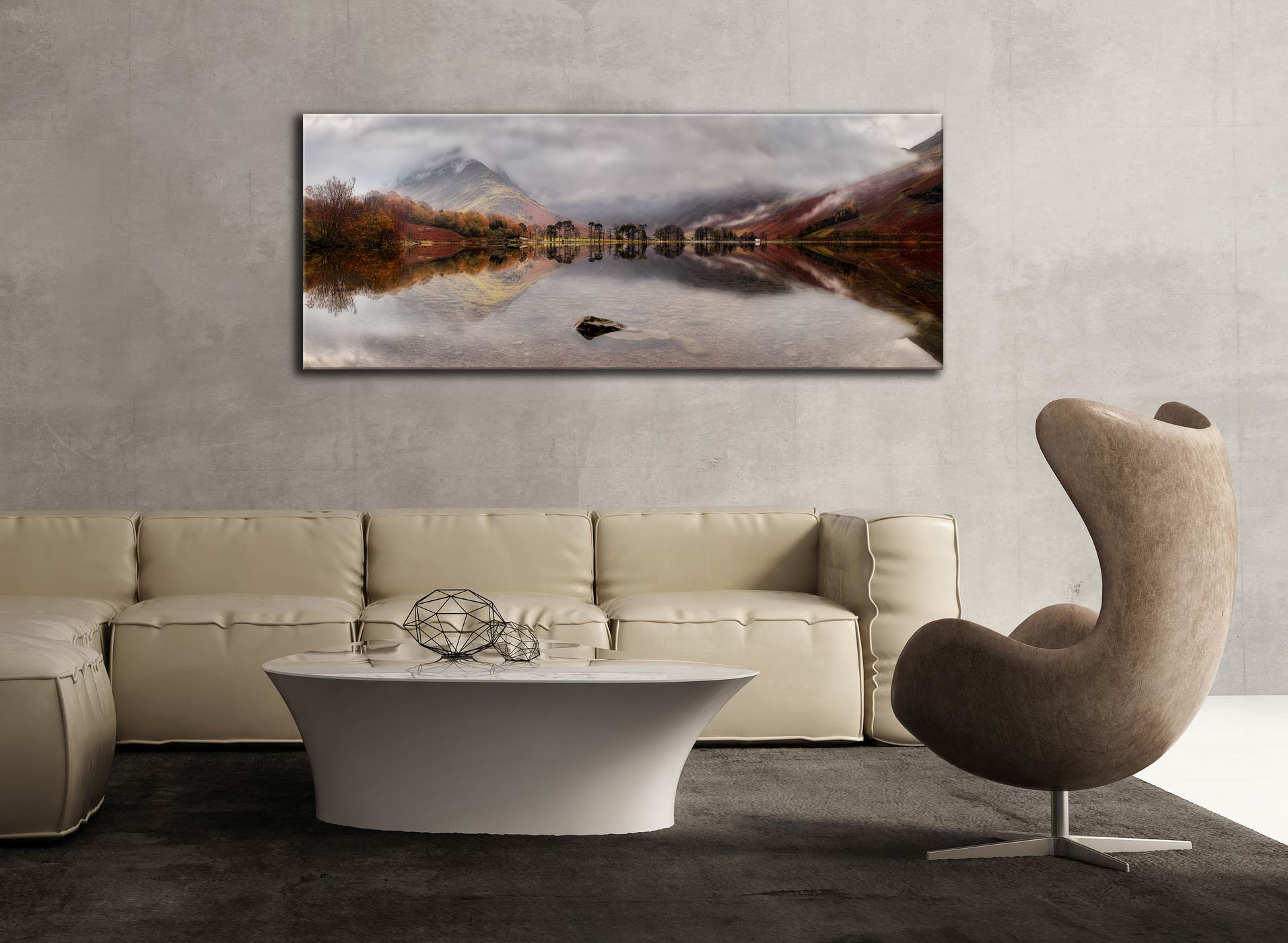 Buttermere Between the Showers - Canvas Print on Wall