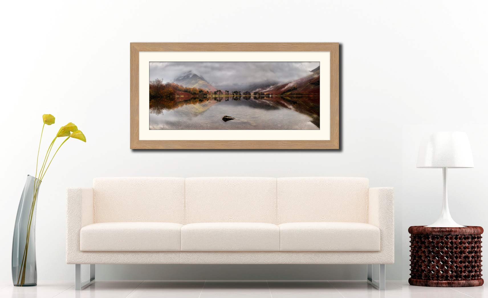 Buttermere Between the Showers - Framed Print with Mount on Wall