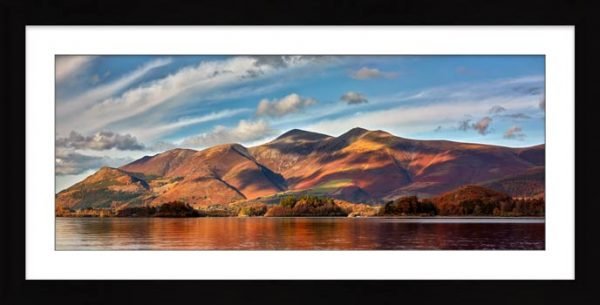Skiddaw Sunshine - Framed Print with Mount