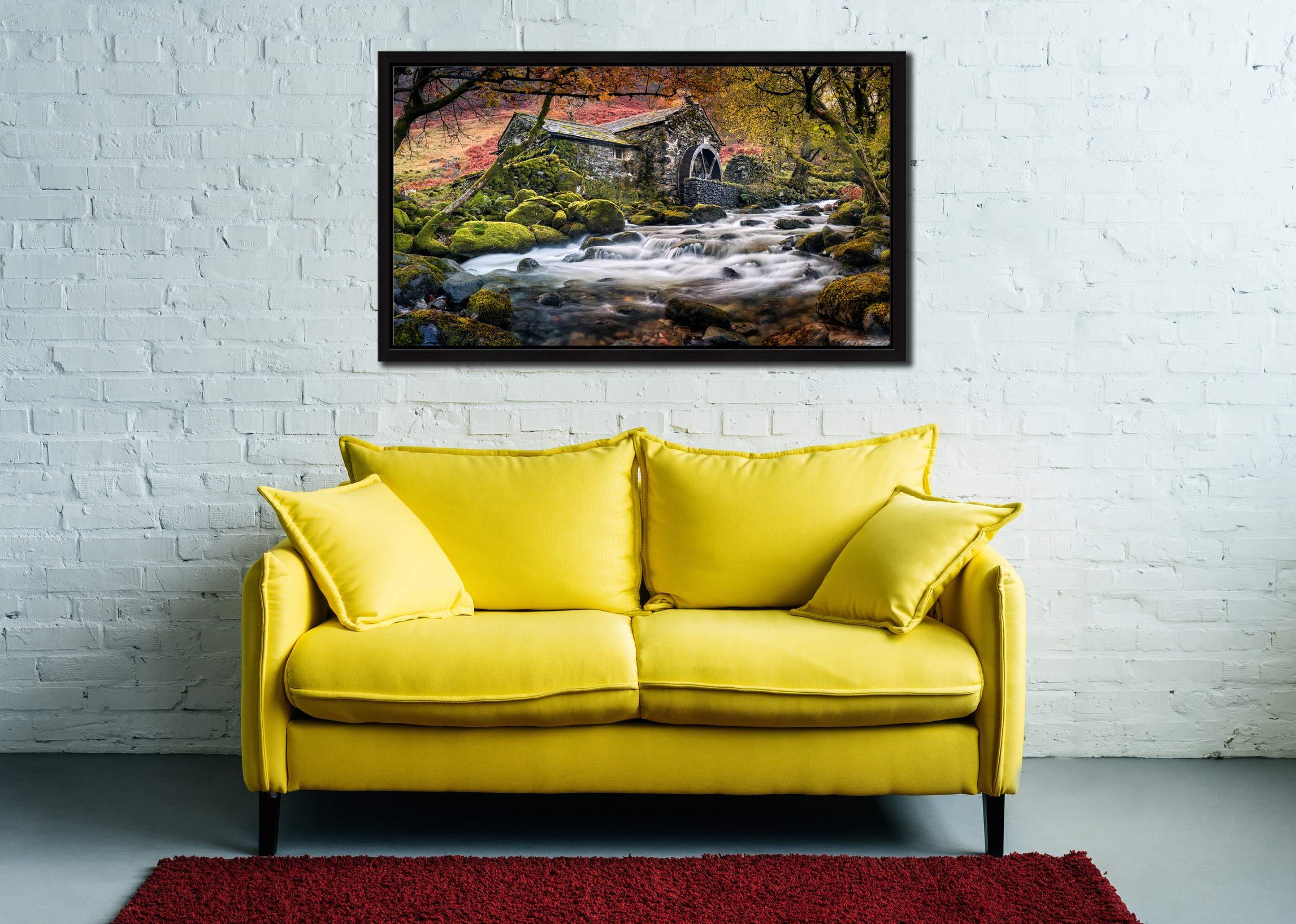 Borrowdale Mill - Black oak floater frame with acrylic glazing on Wall