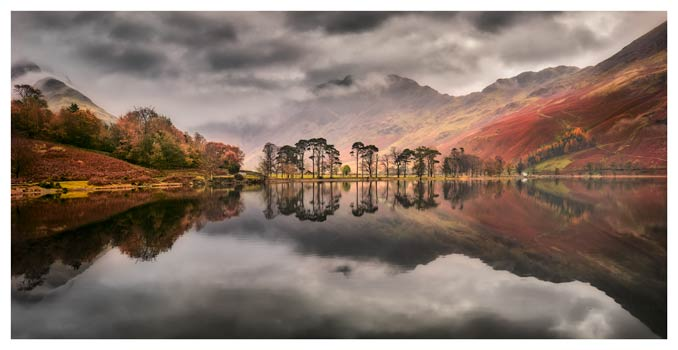 Grey Skies Over Buttermere - Lake District Print