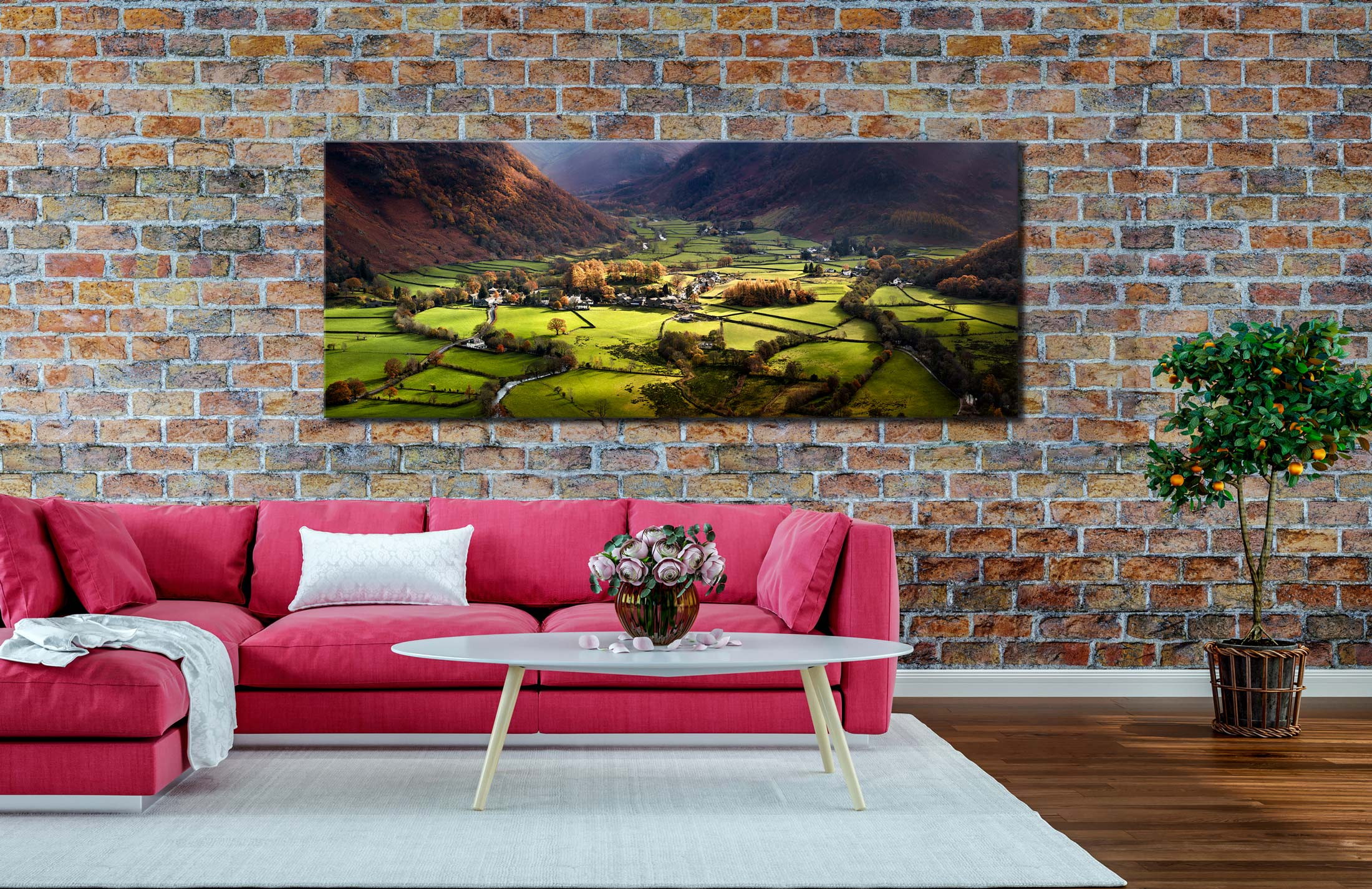 Autumn Colours of Borrowdale - Canvas Print on Wall