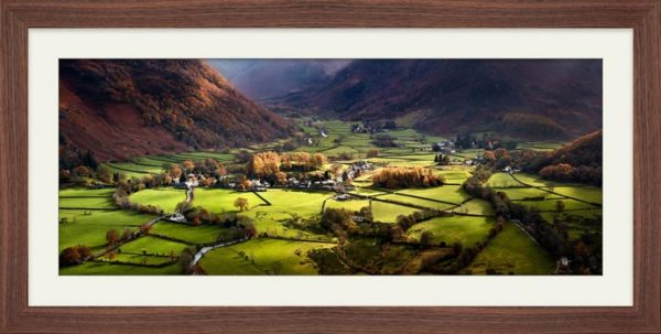 Autumn Colours of Borrowdale - Framed Print with Mount