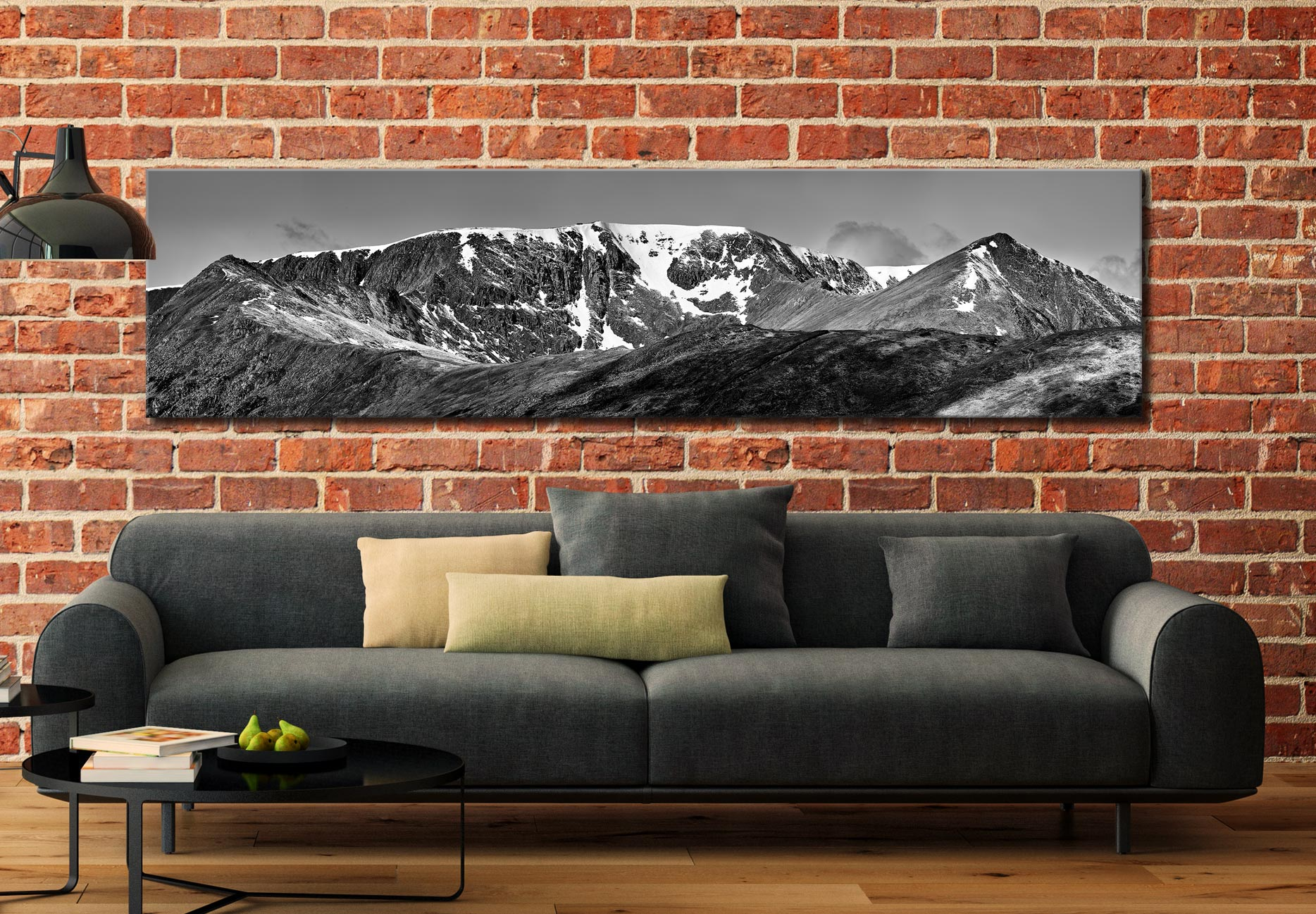 Helvellynn Snow Capped - Lake District Canvas on Wall