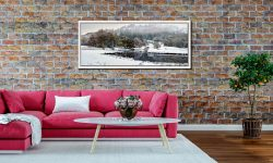 Winter at Birk Rigg Park near Elter Water - White Maple floater frame with acrylic glazing on Wall