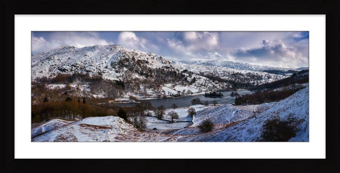 A snowy morning around Rydal Water