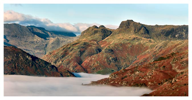 Golden Langdale Pikes - Lake District Print