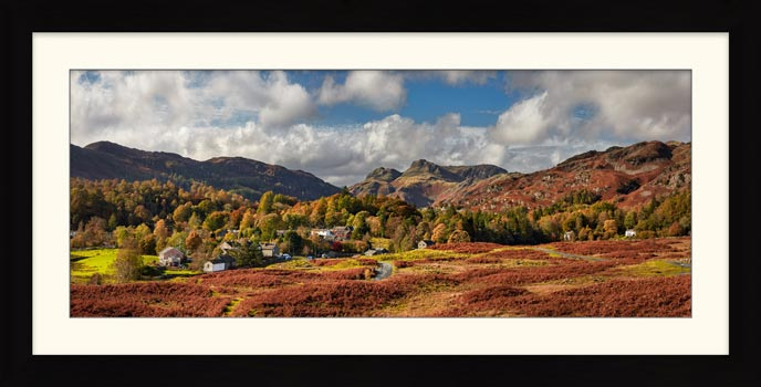 Elterwater Village - Framed Print with Mount