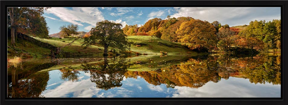Loughrigg Tarn Autumn Reflections - Modern Print