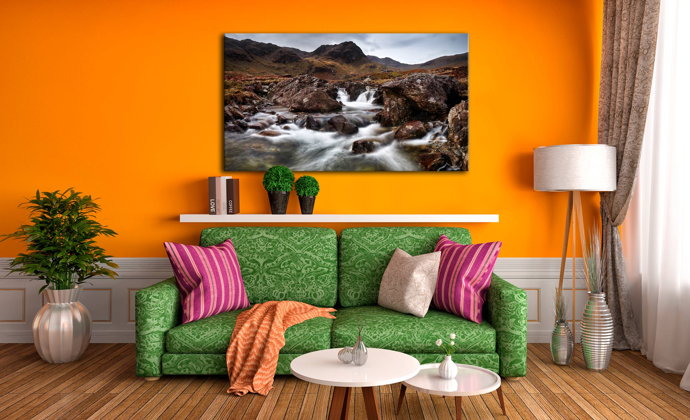 Deepdale Beck to Greenhow End - Lake District Canvas on Wall
