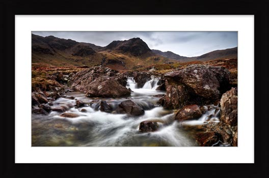 Deepdale Beck to Greenhow End - Framed Print with Mount