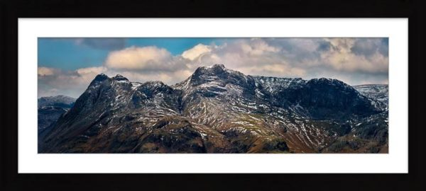 The Langdales and Pavey Ark - Framed Print with Mount