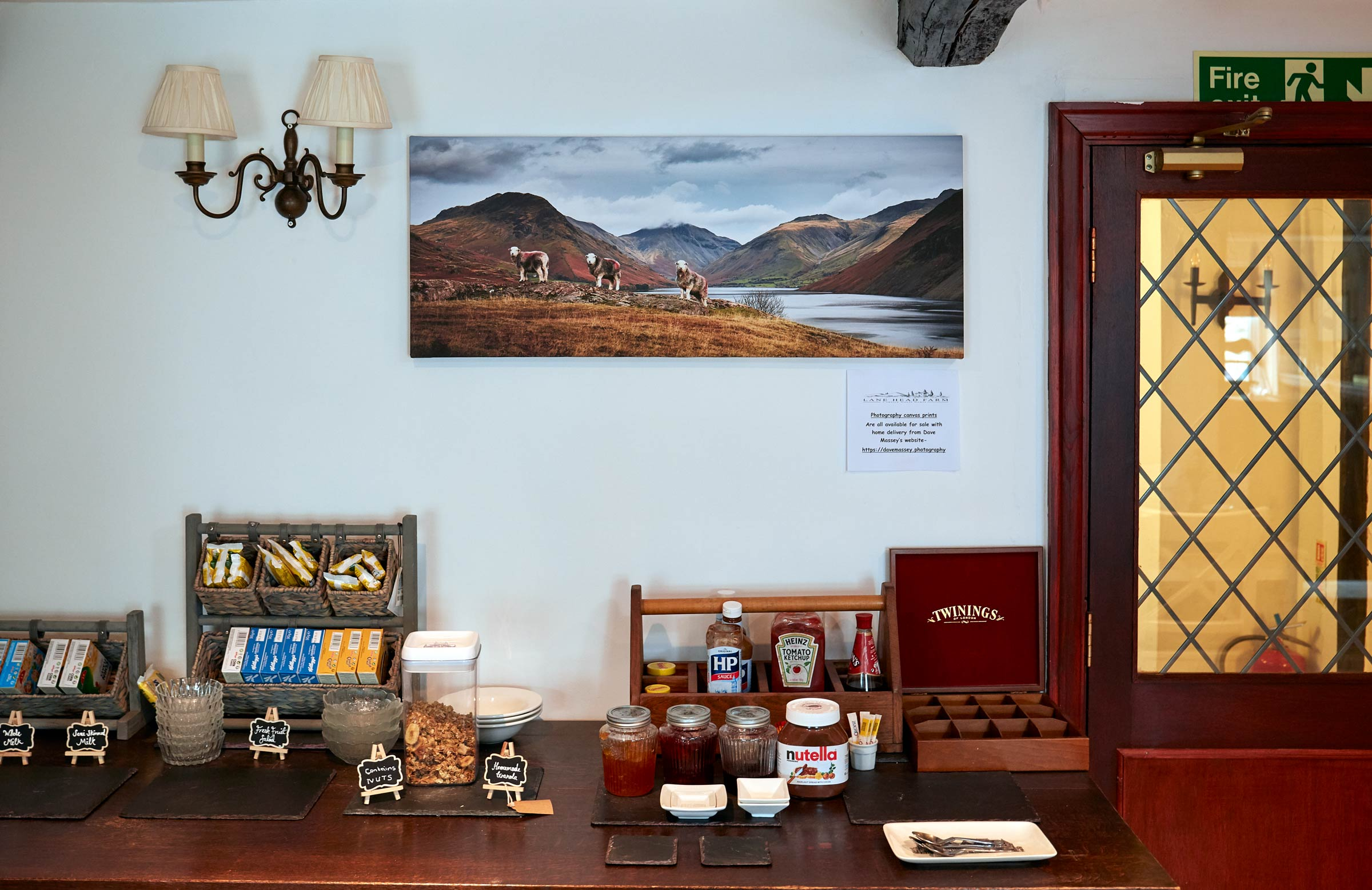 Wast Water Canvas in dining room